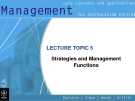 Management-Lecture  5 Strategies and Management Functions