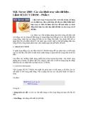 SQL Server 2000 : Các câu lệnh truy vấn dữ liệu Lệnh SELECT FROM – Phần 1