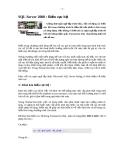 SQL Server 2000 : Biến cục bộ