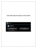 Ngăn chặn thông báo quảng cáo trên Androida