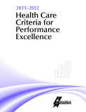 2011–2012 Health Care Criteria for Performance Excellence