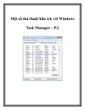 Một số thủ thuật hữu ích với Windows Task Manager – P.2