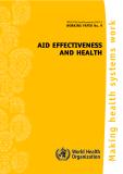 AID EFFECTIVENESS AND HEALTH