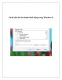 Cách bật/ tắt âm thanh khởi động trong Windows 8