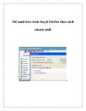 Mở mail trên trình duyệt Firefox theo cách nhanh nhất