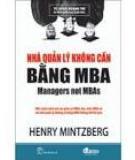 Nhà quản lí không cần bằng MBA