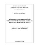 Luận văn: GIẢI PHÁP GIÚP DOANH NGHIỆP THUỶ SẢN   VIỆT NAM ĐỐI PHÓ VỚI CÁC VỤ KIỆN BÁN PHÁ GIÁ  TRONG HOẠT ĐỘNG THƯƠNG MẠI QUỐC TẾ