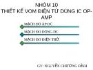 THIẾT KẾ VOM ĐIÊN TỬ DUNG IC OP - AMP