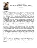 Bài Tập Lớn CTDL & GTTHE LORD OF THE RINGS: THE TWO TOWERSPhiên bản 1.01