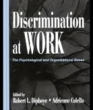 Discrimination at Work The Psychological and Organizational Bases