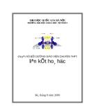 Chuyên đề BỒI DƯỠNG GIÁO VIÊN CHUYÊN THPT liên kết hoá học