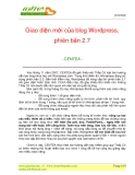 Giao diện mới của blog Wordpress, phiên bản 2.7