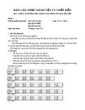 Báo cáo thực hành vật lý chất rắn - Bài 3  Khảo sát đường đặc trưng  vôn - Ampe của Diot bán dẫn