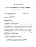 Báo cáo thí nghiệm: Khảo sát hệ quang học  và lập đường cong chuẩn của máy đơn sắc