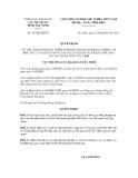 Quyết định số 191/QĐ-HQTN