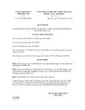 Quyết định số 15/2012/QĐ-UBND