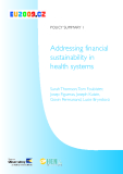 Addressing financial sustainability in health systems