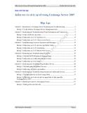 Kiểm tra và xử lý sự cố trong  Exchange Server 2007
