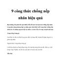 9 công thức chống nếp nhăn hiệu quả
