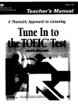 Tune In to the the TOEIC TEST