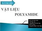 Bao bì thực phẩm - Vật liệu Polyamide