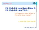 Chuyên đề: Mô Hình Dữ Liệu Quan Niệm & Mô Hình Dữ Liệu Vật Lý