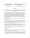 Quyết định số 3196/TB-BNN-VP