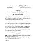 Quyết định số 1738/QĐ-BTC