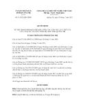 Quyết định số 11/2012/QĐ-UBND