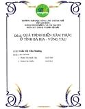 Đề tài: QUÁ TRÌNH BIỂN XÂM THỰC Ở TỈNH BÀ RỊA - VŨNG TÀU