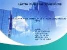 Đề tài: Lập và phân tích dự án đầu tư xây dựng nhà cao tầng