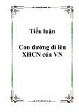 Con đường đi lên XHCN của VN