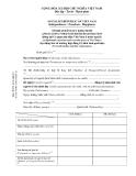 MẪU TỜ KHAI ĐĂNG KÝ KHAI SINH APPLICATION FORM FOR BIRTH REGISTRATION (dùng tại Cơ quan đại diện Việt Nam ở nước ngoài )