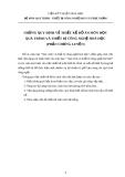 Đề cương đồ án Quá trình và thiết bị công nghệ hoá học