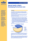 Mental Health at Work: Developing the business case