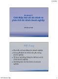 Giới thiệu báo cáo tài chính và phân tích tài chính doanh nghiệp