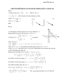 Chuyên đề khảo sát hàm số: Hớng dẫn và đáp án