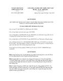 ỦQuyết định số  19/2012/QĐ-UBND