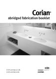 Corian® abridged fabrication booklet