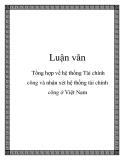 Luận văn: Tổng hợp về hệ thống Tài chính công và nhận xét hệ thống tài chính công ở Việt Nam