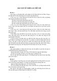 Bài tập về thời giá tiền tệ