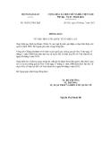 Thông báo số 36/2012/TB-LPQT