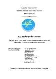 Phân tích thực trạng và định hướng  phân bổ sản xuất  vùng duyên hải Nam Trung Bộ
