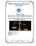 Thẩm định năng lực pháp lý của khách hàng