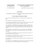 Quyết định số 12/2012/QĐ-UBND