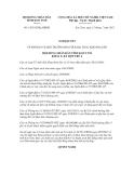 Nghị quyết số 14/2012/NQ-HĐND