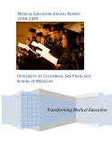 MEDICAL EDUCATION ANNUAL REPORT  2008‐2009: UNIVERSITY OF CALIFORNIA, SAN FRANCISCO SCHOOL OF MEDICINE