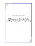 Báo cáo tốt nghiệp Ngân Hàng  AGRIBANK Chi nhánh Sơn Tây