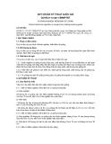 QCVN 01-72:2011/BNNPTNT