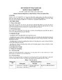 QCVN 01–50:2011/BNNPTNT